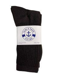 Yacht & Smith Women's Sports Crew Socks Size 9-11 Brown Bulk Pack