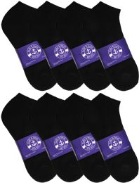 Yacht & Smith Mens Cotton Black No Show Ankle Socks, Sock Size 10-13