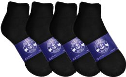 Yacht & Smith Mens Cotton Black Sport Ankle Socks, Sock Size 10-13