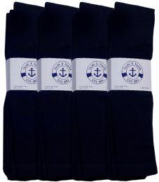 Yacht & Smith Men's Navy Cotton Terry Tube Socks,30 Inch Long Athletic Tube Socks, Size 10-13