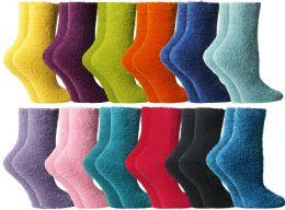 Yacht & Smith Butter Soft Womens Cozy Fuzzy Socks, Sock Size 9-11