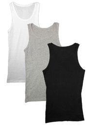 Yacht & Smith Mens Ribbed 100% Cotton Tank Top, Assorted Colors, Size Large