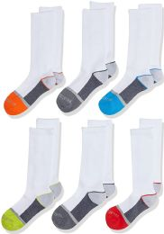 Boys Fruit Of The Loom Assorted Color Crew Socks Size M 9-2