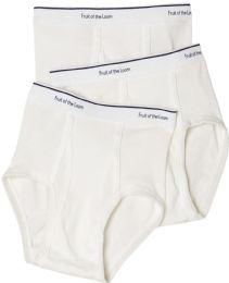 Boys Cotton White Briefs Assorted Sizes 6-13