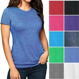 Womens Cotton Short Sleeve T Shirts Mix Colors Size 2XL