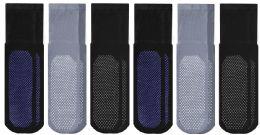 Yacht & Smith Mens Multi Purpose Diabetic Rubber Silicone Gripper Bottom Slipper Socks Size 10-13