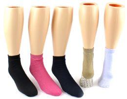 Slipper Socks w/ Non-Skid Grips 24 pack