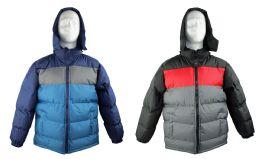 Kid's Winter Bubble Ski Jackets w/ Detachable Hood - Sizes 8-20 - Choose Your Color(s) 12 pack