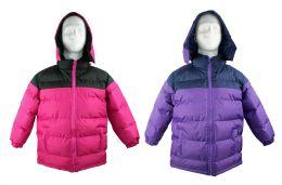 Kid's Winter Bubble Ski Jackets w/ Detachable Hood - Sizes 7-16 - Choose Your Color(s) 12 pack