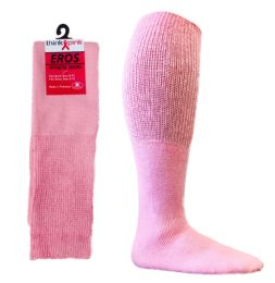 Pink Football Socks for 3787 - Teen's Size 9-11 36 pack