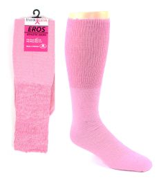 Pink Football Socks for 3787 - Kid's Size 6-8 48 pack