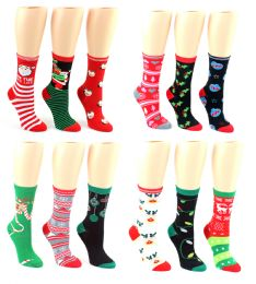 Christmas Crew Socks - Size 9-11 24 pack