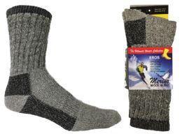 Women's Thermal Merino Wool Crew Socks - 2-Pair Packs 30 pack