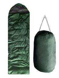 ADULTS SLEEPING BAG IN GREEN BULK BUY 12 pack