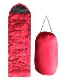 ADULTS SLEEPING BAG IN RED BULK BUY 12 pack