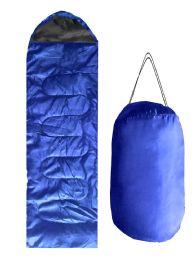 ADULTS SLEEPING BAG IN ROYAL BLUE BULK BUY 12 pack