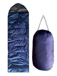 ADULTS SLEEPING BAG IN SOLID NAVY BULK BUY 12 pack