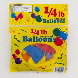 Balloons 1/4 Lb Asst 7/9/11 Inch In Asst Colors