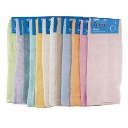 Bath Towel Carded Assorted Colors 72 pack