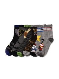 Boys Assorted Design Printed Crew Sock Size 0-12 216 pack