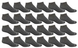 Bulk Pack Men's Cotton Light Weight Breathable No Show Loafer Socks, Solid Gray Size 10-13