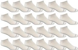 Bulk Pack Men's Cotton Light Weight Breathable No Show Loafer Socks, White Size 10-13