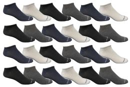 Bulk Pack Men's Light Weight Breathable No Show Loafer Socks, Solid Assorted 4 Colors Size 10-13