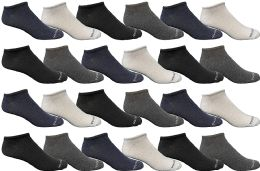 Bulk Pack Womens Light Weight No Show Low Cut Breathable Socks, Solid Assorted Colors, Size 9-11
