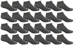Bulk Pack Womens Light Weight No Show Low Cut Breathable Socks, Solid Dark Heather Size 9-11
