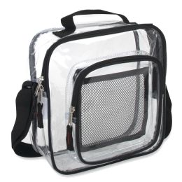 Clear Toiletry Bag - Black 24 pack