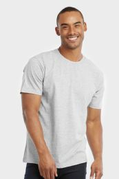 COTTONBELL MEN'S CREW NECK T SHIRT IN GREY SIZE X LARGE 30 pack