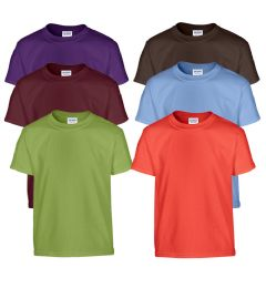 Fruit of The Loom Irregular Youth T-Shirts Assorted Sizes 72 pack