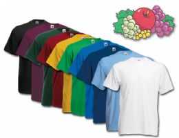 Fruit Of The Loom Mens Assorted T Shirts, Assorted Colors Size XL 72 pack