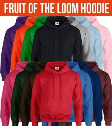 Fruit Of The Loom Mens Hoodies Size 4XL BULK BUY 12 pack