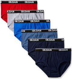 Gildan Mens Briefs, Assorted Colors First Quality SIZE 2XL ONLY 25 pack
