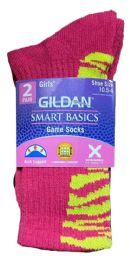 Gildan Smart Basics Crew Socks , Girls Shoe Size 10.5-4 BULK BUY 240 pack