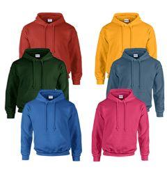 Gildan Unisex Mill Graded Irregular 2nd Hooded Pullover Sweat Shirts