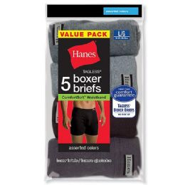 Hanes Mens Assorted Colors Boxer Brief Size M