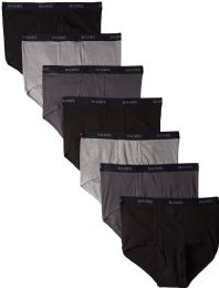 Hanes Mens Assorted Colors Briefs Size Large 36 pack