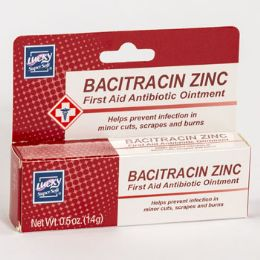 Lucky Bacitracin Zinc First Aid Antibiotic Ointment 0.5oz Boxed 24 pack