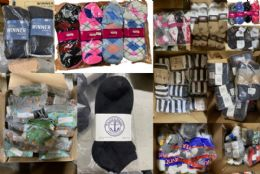 MEGA Sock Pallet Deal Mens Woman And Children Mix Socks - All Kinds Of Socks BULK BUY 1200 pack