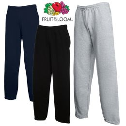 Men's Fruit Of the Loom Sweatpants, Size Medium BULK BUY 24 pack