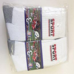 Men soccer socks/Size 10-13 72 pack