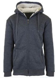 Mens Charcoal Fleece Line Sherpa Hoodies Size XXL 12 pack