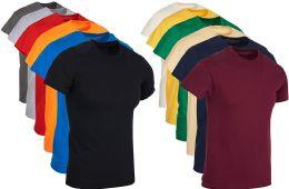 Mens Cotton Crew Neck Short Sleeve T-Shirts Mix Colors Bulk Pack Size Medium