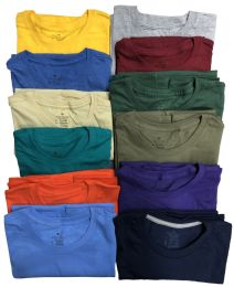 Mens Cotton Short Sleeve T Shirts Mix Colors And Mix Sizes BULK BUY 72 pack