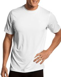 Mens First Quality Cotton Short Sleeve T Shirts Solid White Size 2XL 60 pack