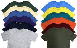 Mens Plus Size Cotton Crew Neck Short Sleeve T Shirt, Assorted Colors, Size 6XL