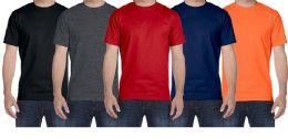 Mens Plus Size Cotton Short Sleeve T Shirts Assorted Colors Size 6XL 36 pack