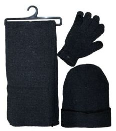 SOCKS'NBULK 3Piece Set, Hat Glove And Scarf Winter Sets 72 pack